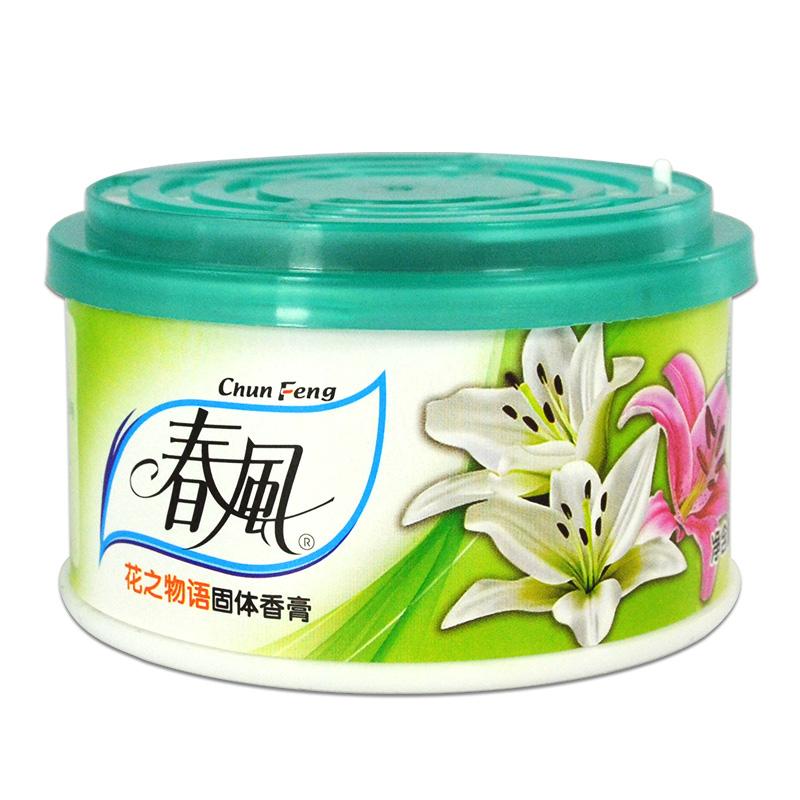 春风空气清新剂固体香膏清香剂汽车厕所除臭家用卧室香薰持久留香