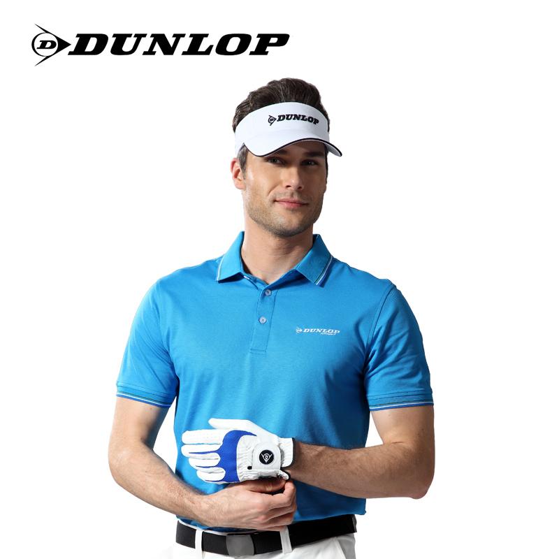 英國DUNLOP正品高爾夫服裝男款短袖T恤男士絲光棉Polo衫球衣
