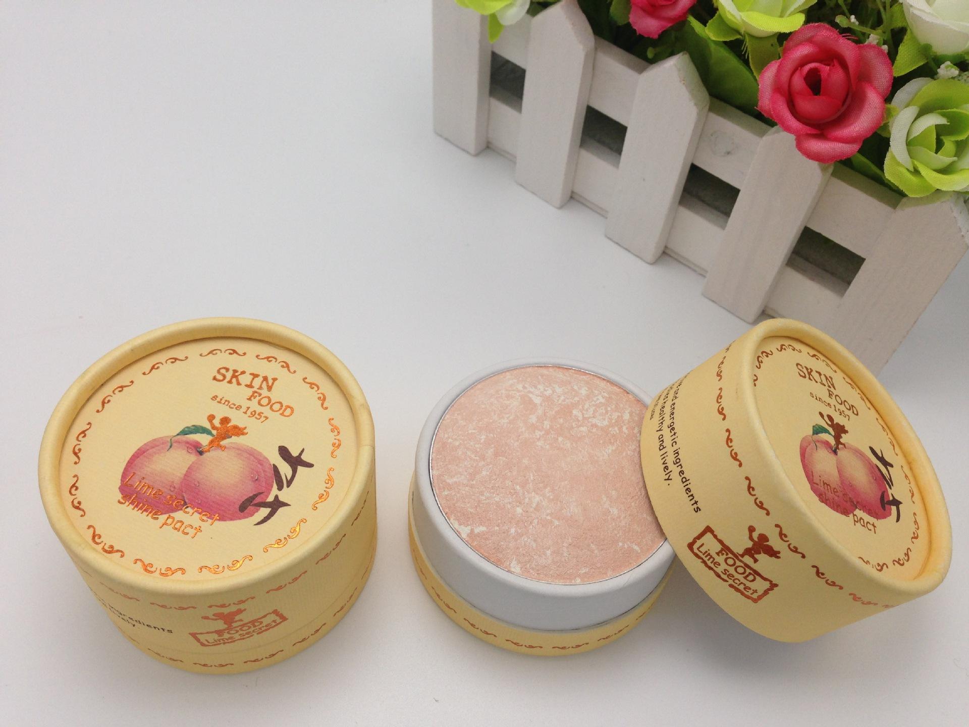 韓國水蜜桃粉餅定妝修容高光提亮粉餅遮瑕控油防水乾粉不脫妝包郵
