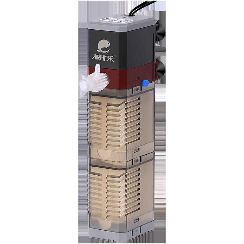鱼缸过滤器潜水泵三合一过滤设备氧气泵内置过滤器鱼缸水泵增氧泵