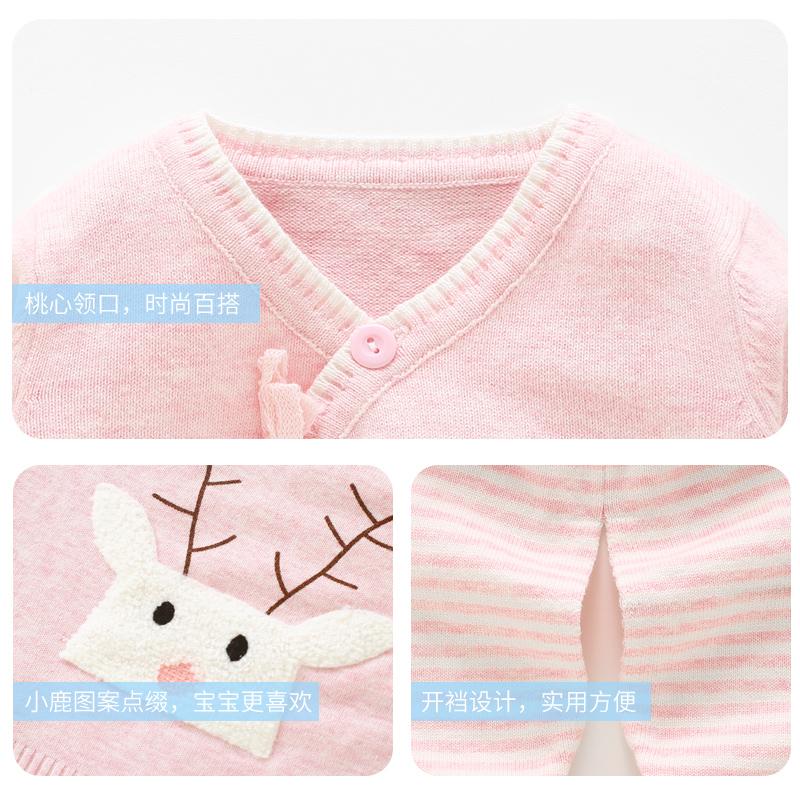 初生婴儿毛衣套装男新生儿线衣宝宝针织开衫女0-3-6个月秋装衣服