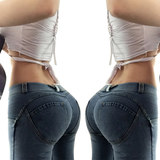 Europe and America peach hip hip tight stretch yoga pants female summer sports casual trousers fitness Bottom Jeans