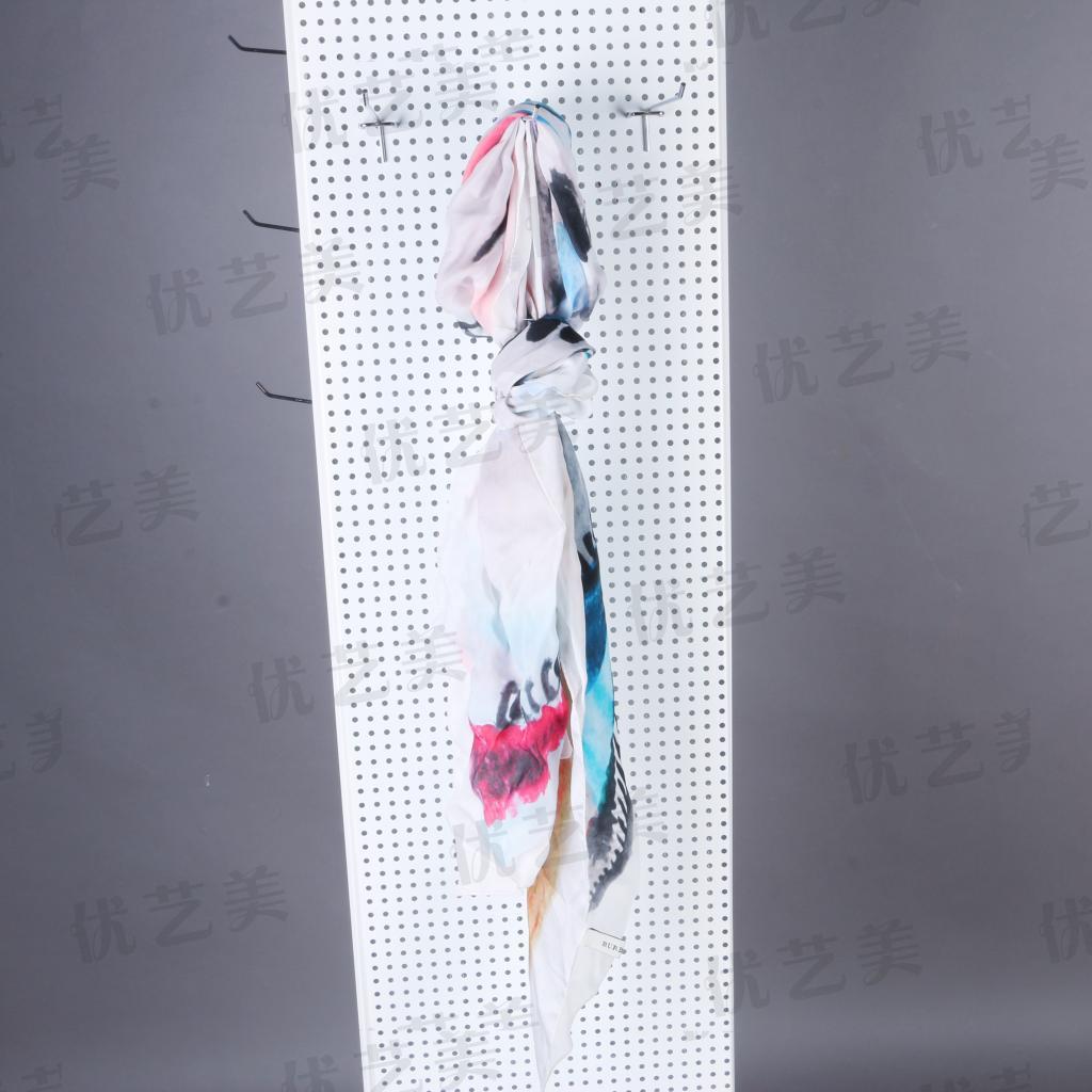 优艺美落地旋转饰品洞洞板展示架 挂钩手机饰品货架 不锈钢铁展架