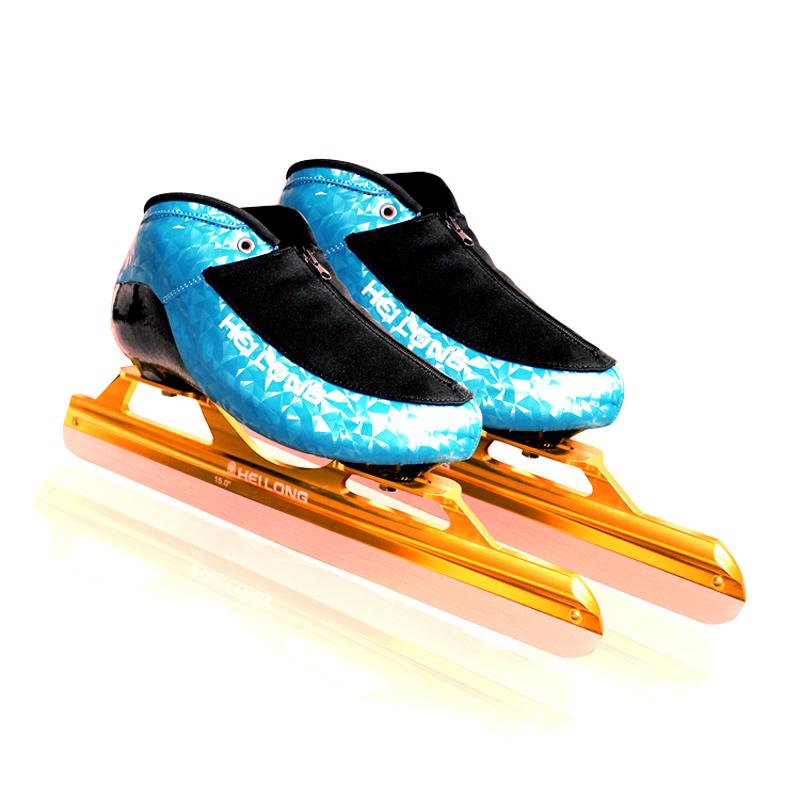 黑龙 高级速滑冰刀鞋 男大道定位 滑冰鞋成人女碳纤维塑型专业级