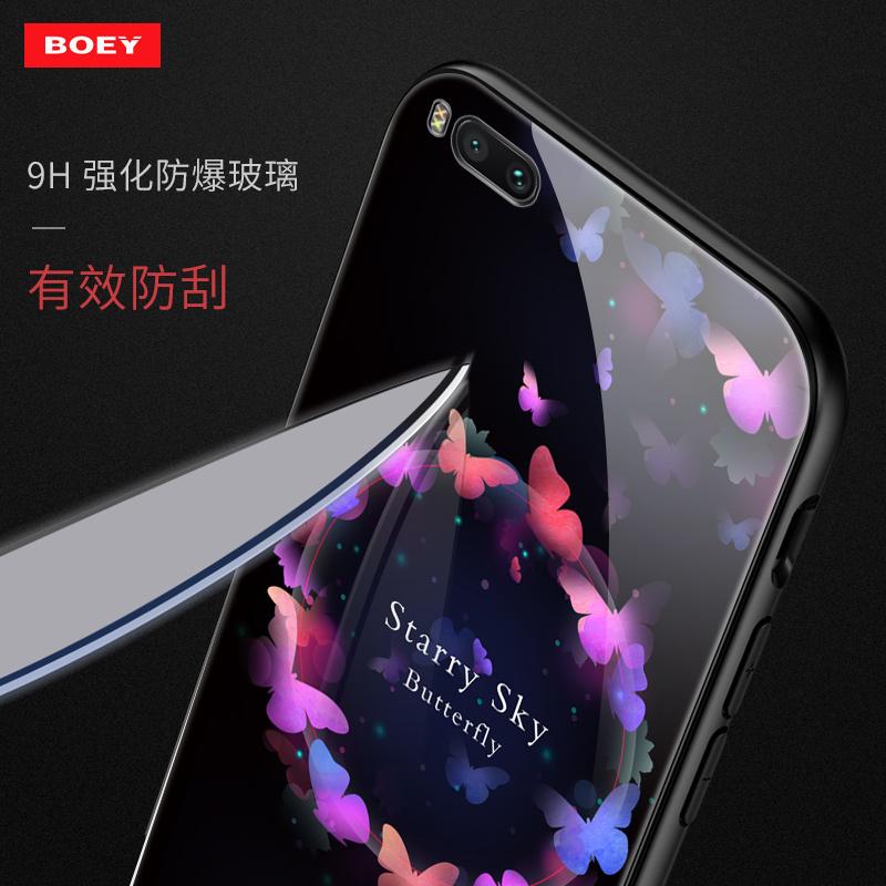 小米note3手机壳彩绘钢化玻璃保护套硅胶全包创意男女款潮新