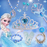 Kids ice and snow edge crown magic wand headpiece Princess Aisha crown girl hair jewelry set gift