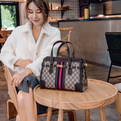 包包女2019新款铂金锁扣包手提包大容量韩版百搭单肩斜挎包凯利包