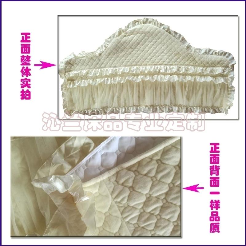 水晶绒夹棉加厚欧式弧形半圆床头套特大软包床头罩任意规格定做
