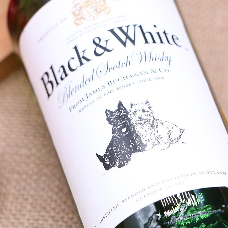 原装进口 行货 原装进口 黑白狗精选陈年调配苏格兰威士忌 英国 洋酒