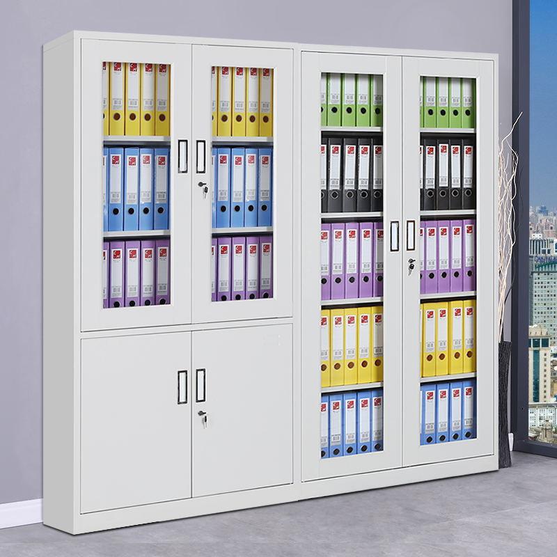 五节财务凭证办公储物资料开门带锁柜子 A4 合肥钢制文件铁皮档案