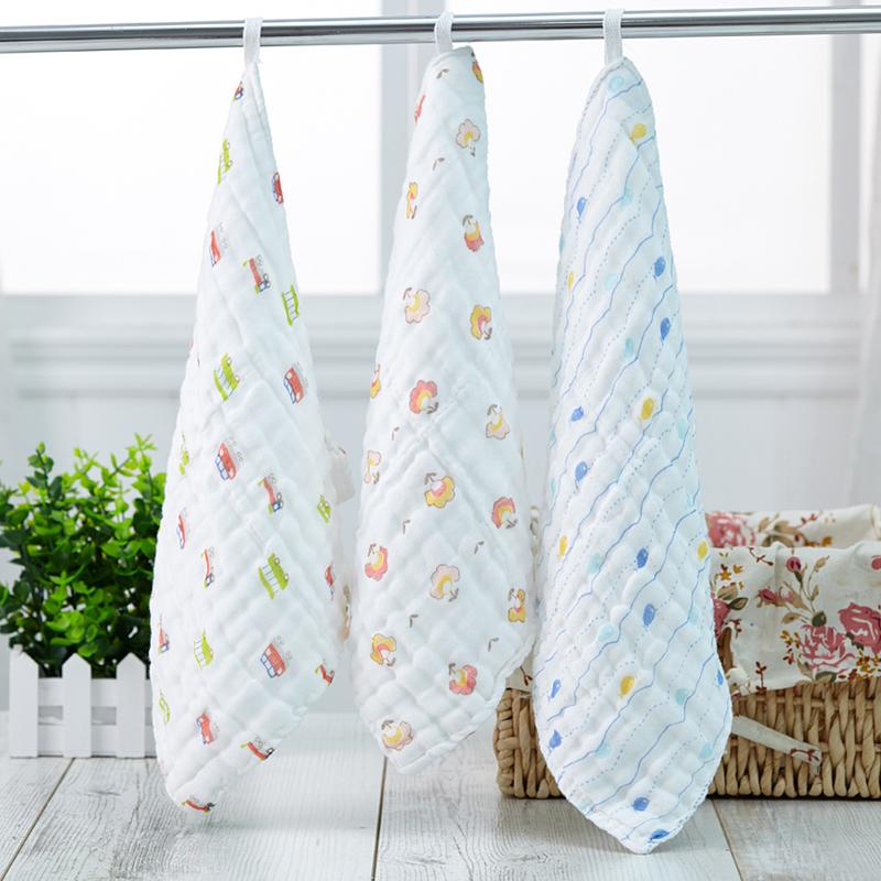 3条装婴儿方巾宝宝喂奶毛巾新生儿医用品纯棉纱布口水巾洗脸手帕