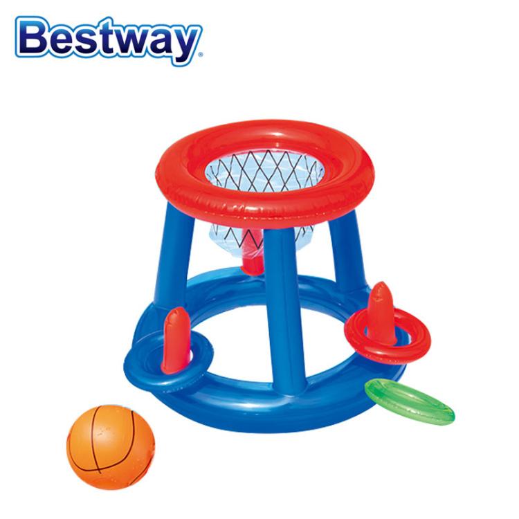 儿童水上充气篮球框足球排球网架 水池泳池戏水充气玩具水陆两用