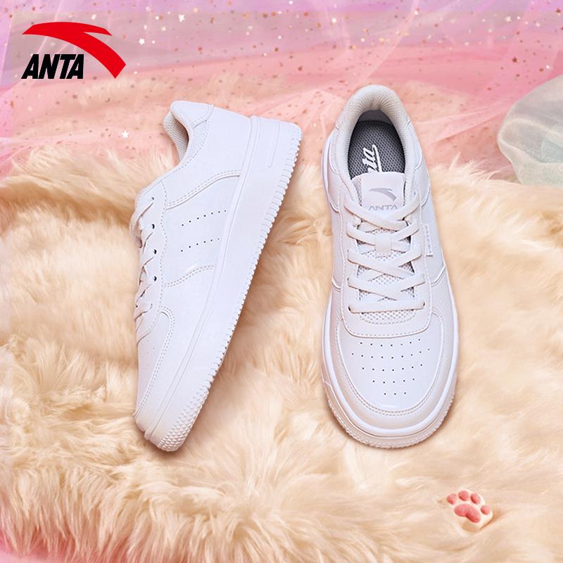 安踏女鞋运动鞋女白色2020冬新款百搭小白鞋厚底保暖休闲亲子板鞋