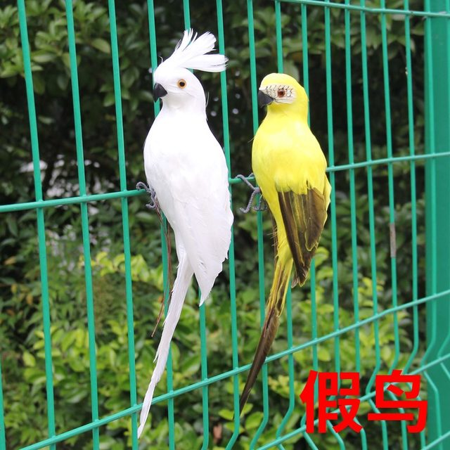 25 fake parrots and parrot 35CM red diamond window gardening decorative birds foam large parrot feathers Home Decoration