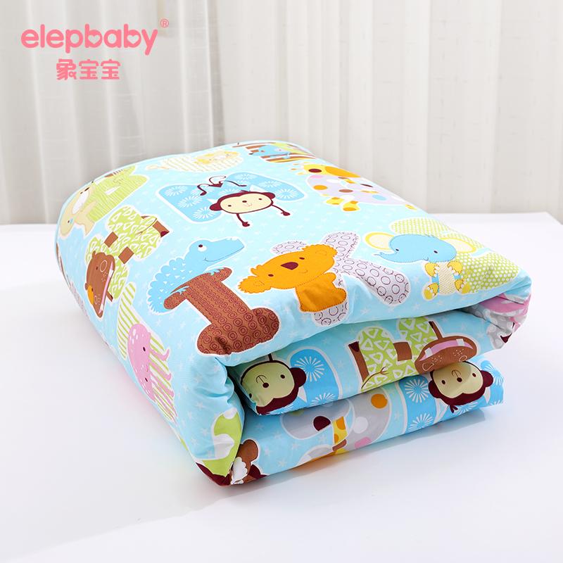 象宝宝 婴儿空调被 幼儿园儿童秋冬加厚棉被夏凉被宝宝盖被两件套