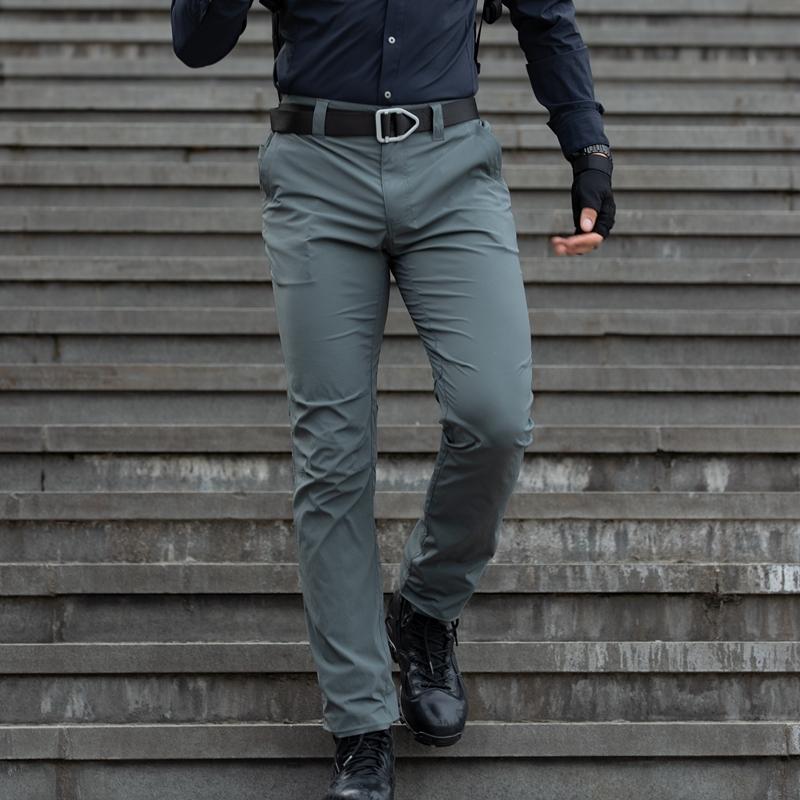 夏季超薄款潜行城市轻量速干裤男弹力修身户外透气耐磨战术长裤