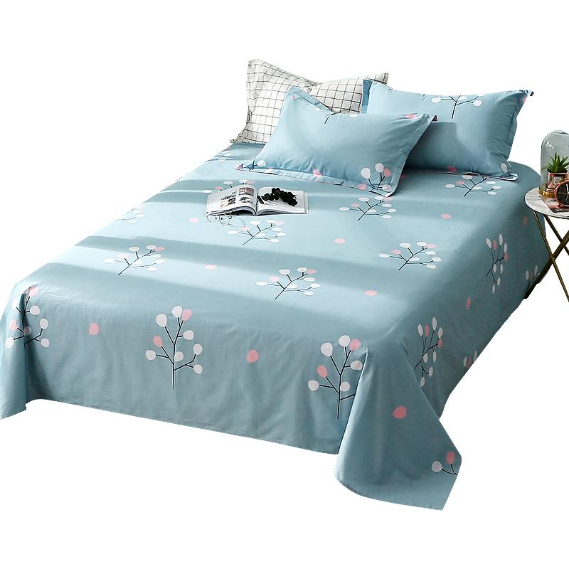 双人床宿舍被单 1.8m 纯棉布 米床 1.5 谷蝶全棉碎花单人学生床单单件