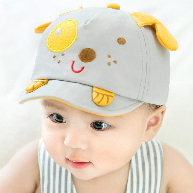 婴儿帽子春秋薄款宝宝遮阳帽男童秋冬帽子鸭舌帽女童防晒帽夏季