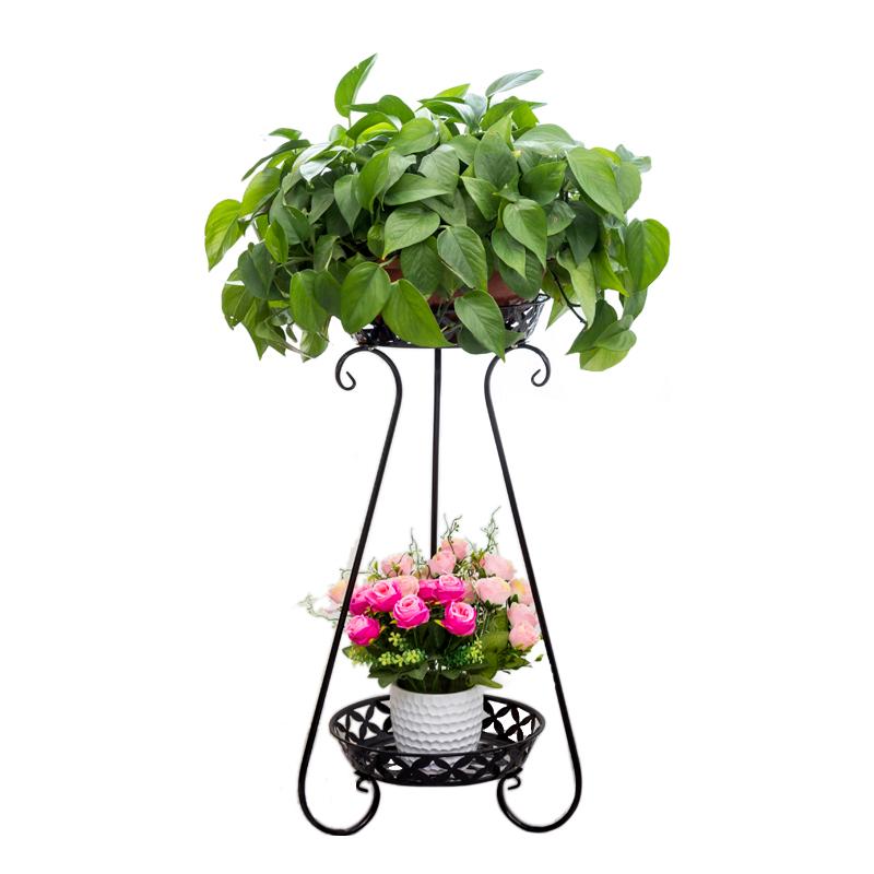 欧式铁艺花架多层落地式阳台室内客厅花架子绿萝吊兰花盆架子包邮