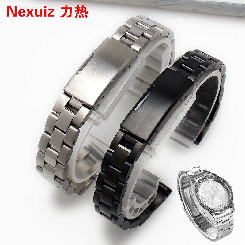 力热手表钢带 不锈钢细表带 表链 小号女式 10|12|14mm 手表配件