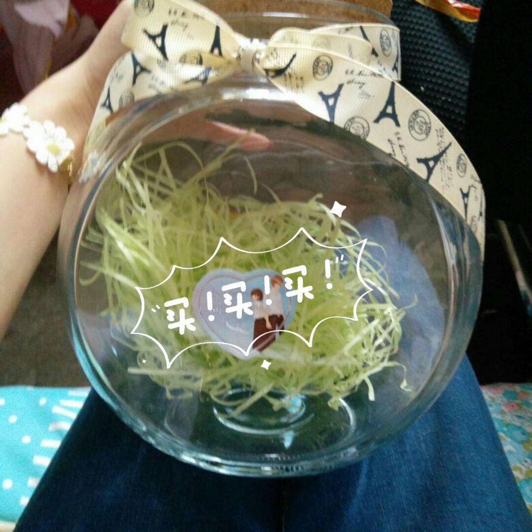 包邮星星瓶大号花鼓许愿瓶漂流瓶透明玻璃瓶幸运星瓶情人生日礼物