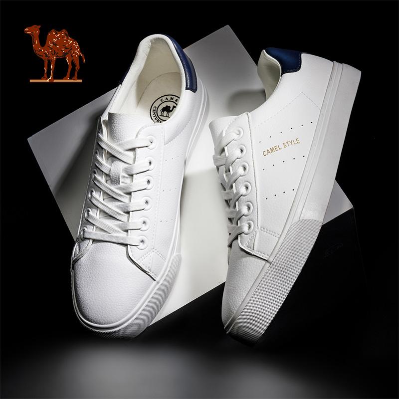 新款低帮小白鞋女休闲鞋运动鞋白色板鞋 2019 骆驼情侣板鞋男鞋春季
