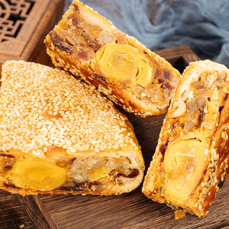 温州苍南特产 陈福兴桥墩中秋月饼 传统手工蛋黄鲜肉五仁酥皮团购