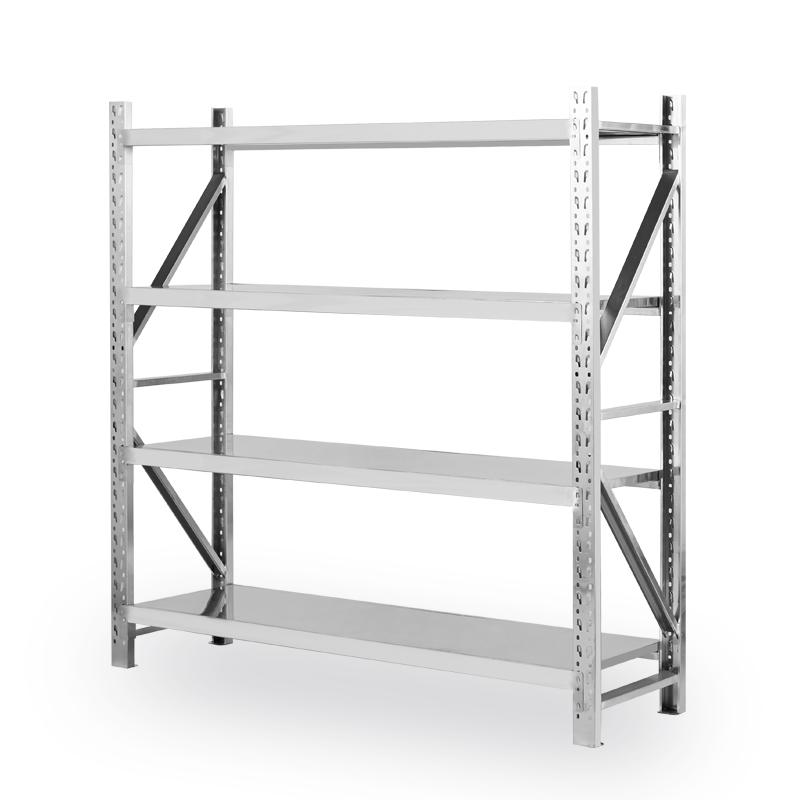 不锈钢货架加厚重型冷库仓库仓储商用要房多层防潮防锈储物架 304