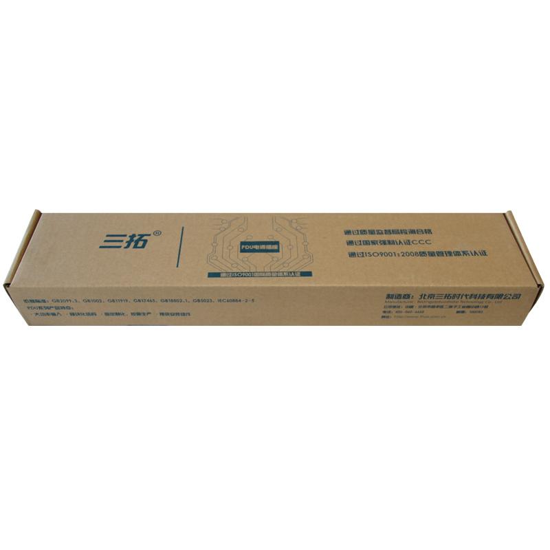 三拓PDU机柜电源插座8位16a机架式工业机房防雷插排接线板TS8808按需定制