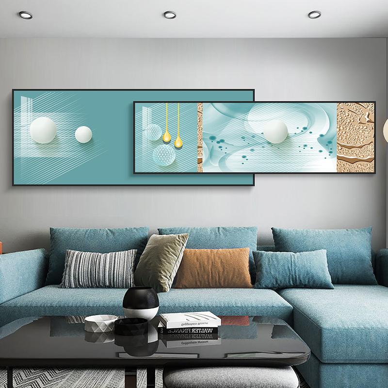 现代简约客厅装饰画沙发背景墙挂画北欧轻奢大气卧室墙面叠加壁画