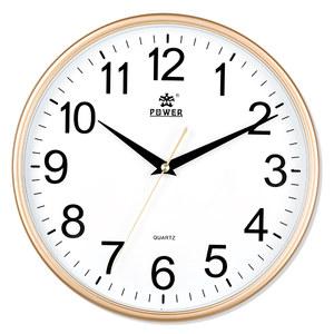 霸王静音挂钟客厅个性创意现代时钟简约家用石英钟中式钟圆形