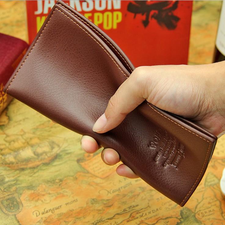 男士长款钱包男款青年钱夹时尚休闲商务超薄多卡位软皮夹
