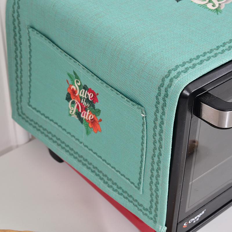 田园清新 棉麻布艺盖布格兰仕美的微波炉罩防尘罩子美式烤箱盖巾