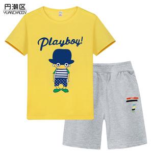 中大童夏季韓版潮衣兩件套