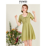 2020 summer new avocado green matcha green doll collar dress small fresh forest girl platycodon skirt