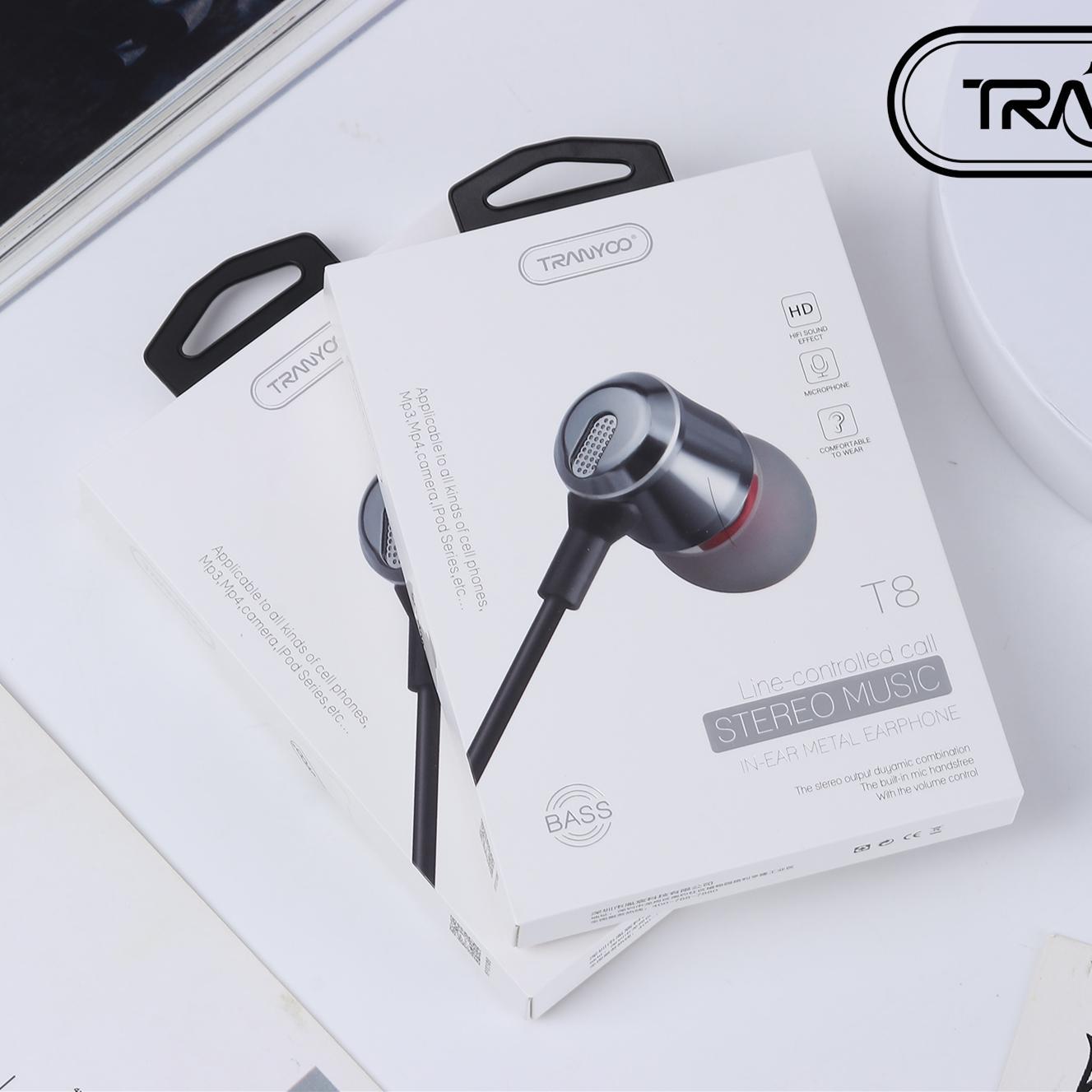 T8 金属调音重低音耳机 男女通用智能耳机  入耳式耳机批
