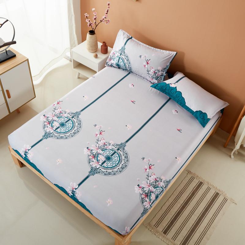 床笠单件席梦思保护套床垫套防滑床单床罩学生宿舍棕垫套防尘套子 - 图2