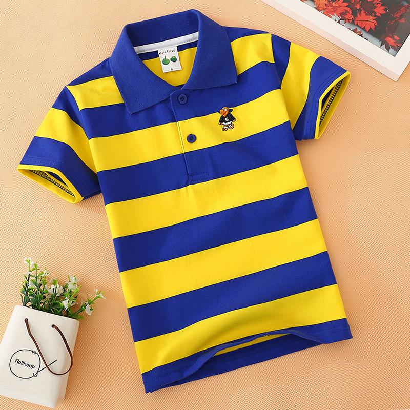 童装男童短袖t恤纯棉夏季儿童T恤衫中大童翻领Polo衫半袖小孩上衣