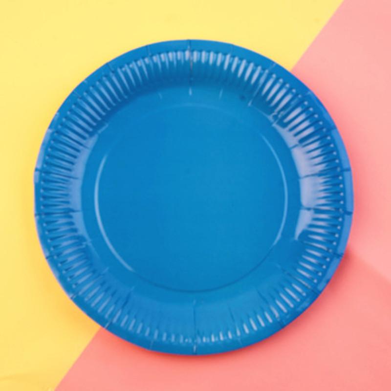 手工纸盘大号创意diy儿童益智彩色纸盘子画10个装幼儿园纸盘画