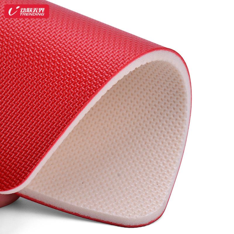 乒乓球地胶室内球场馆防滑地胶垫比赛专用布纹PVC塑胶运动地板
