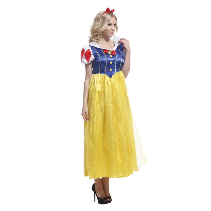 迪士尼Snow White成人礼服 白雪公主裙 舞台演出服cosplay万圣节