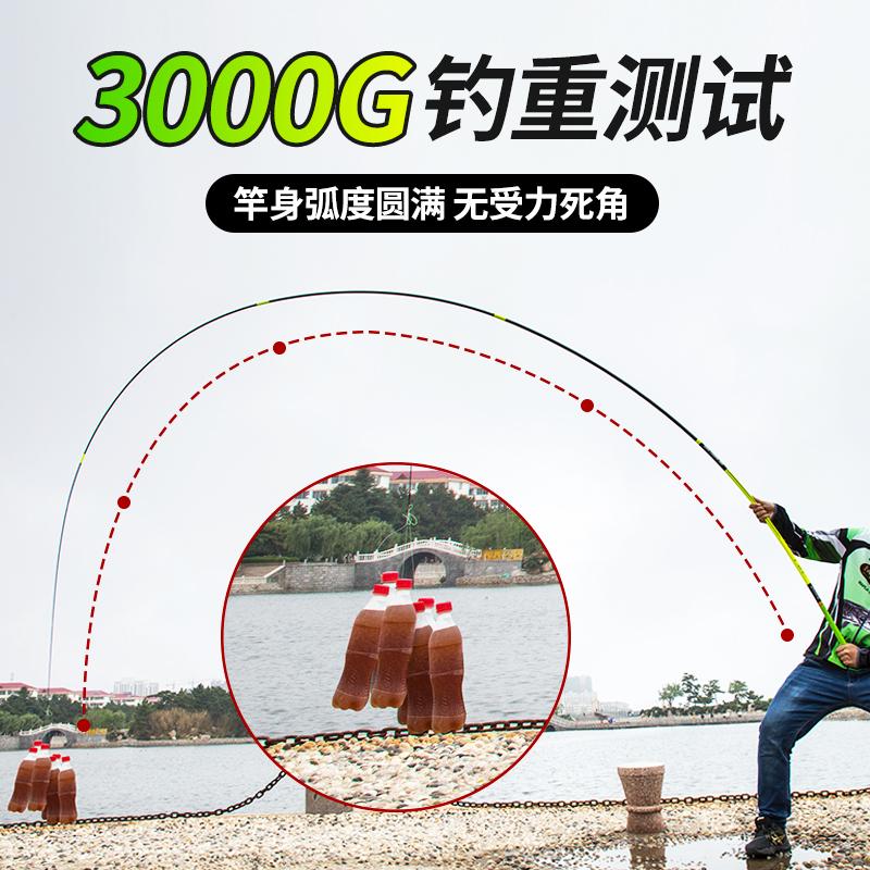 【轻】飞鲨鱼竿28调手竿碳素超轻超硬台钓钓鱼竿