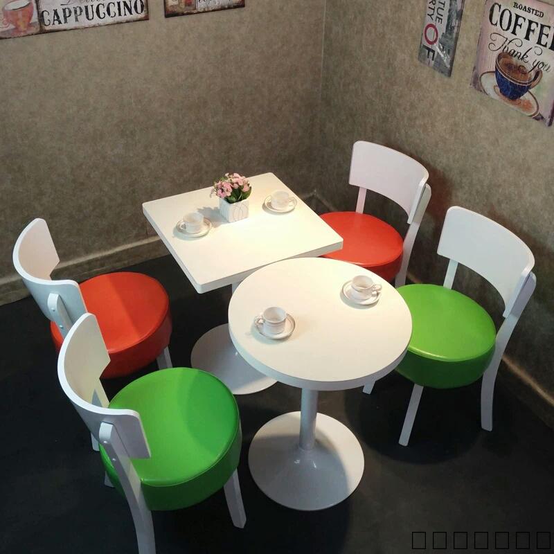 定做咖啡厅奶茶店甜品店桌子西餐厅小吃快餐店桌椅组合 现代简约