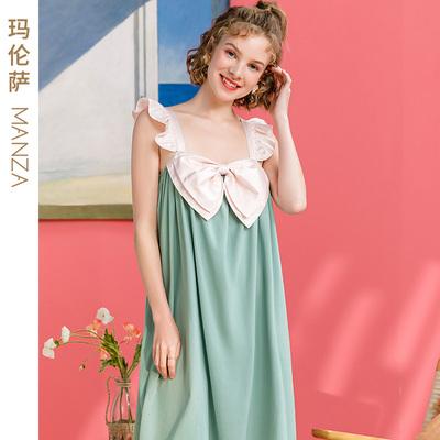 芬腾玛伦萨2021新款睡衣女夏吊带睡裙可外穿纯棉公主风少女家居服