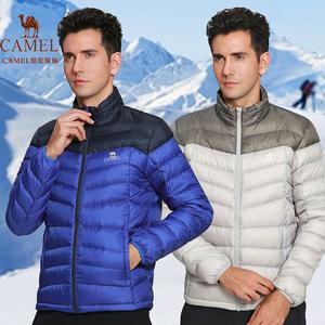 骆驼正品秋冬季新款男装加厚滑雪羽绒服立领修身韩版运动羽绒衫潮