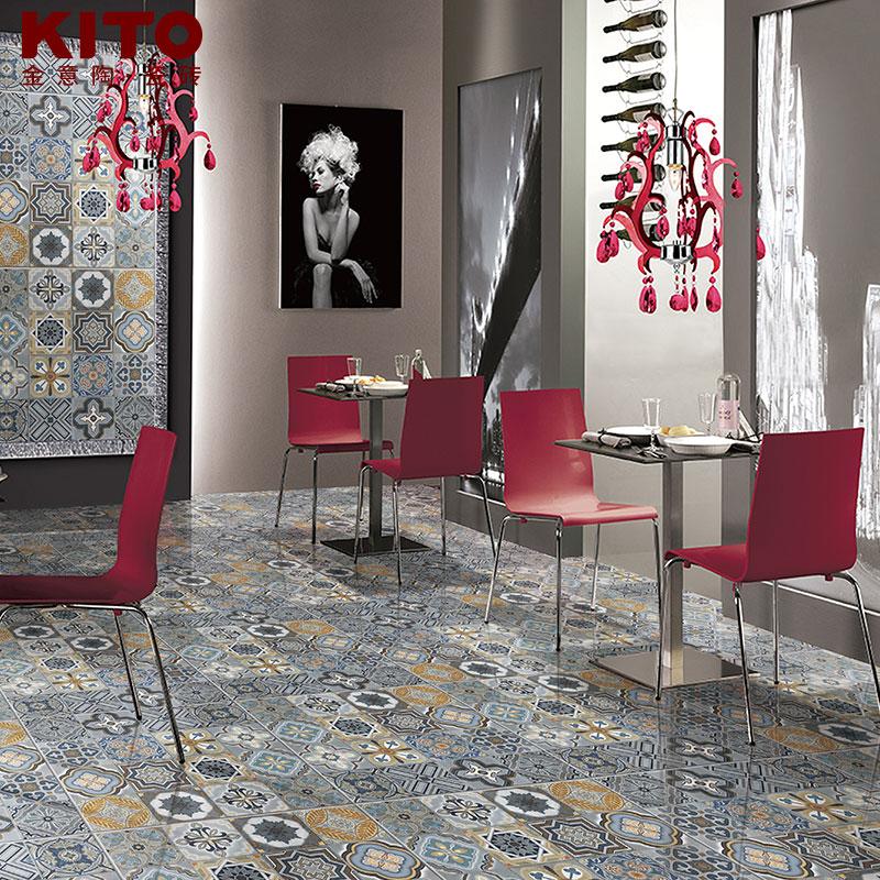 金意陶瓷砖 客厅地砖仿古砖 背景墙砖花砖文化石 情迷地中海