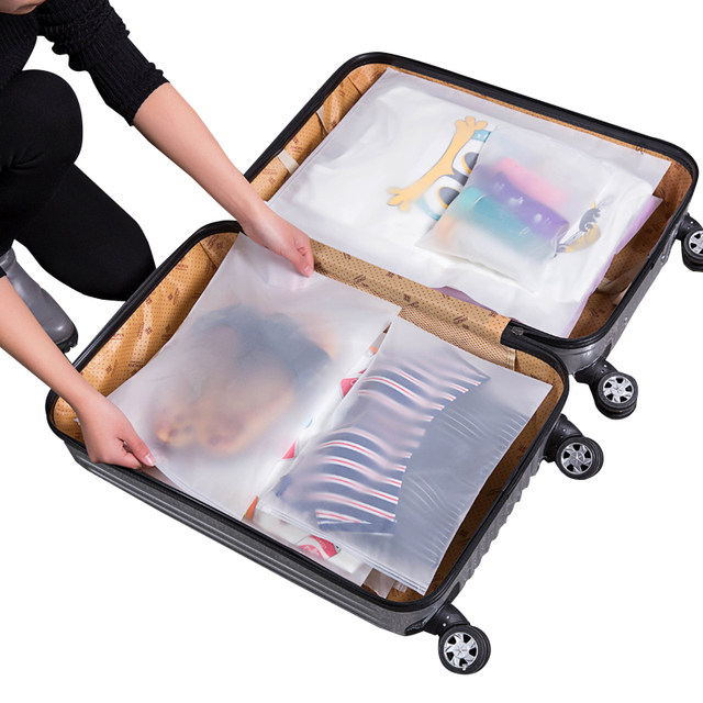 Travel storage bag clothing clothing underwear finishing bag sealed bag luggage package bag transparent waterproof portable bag
