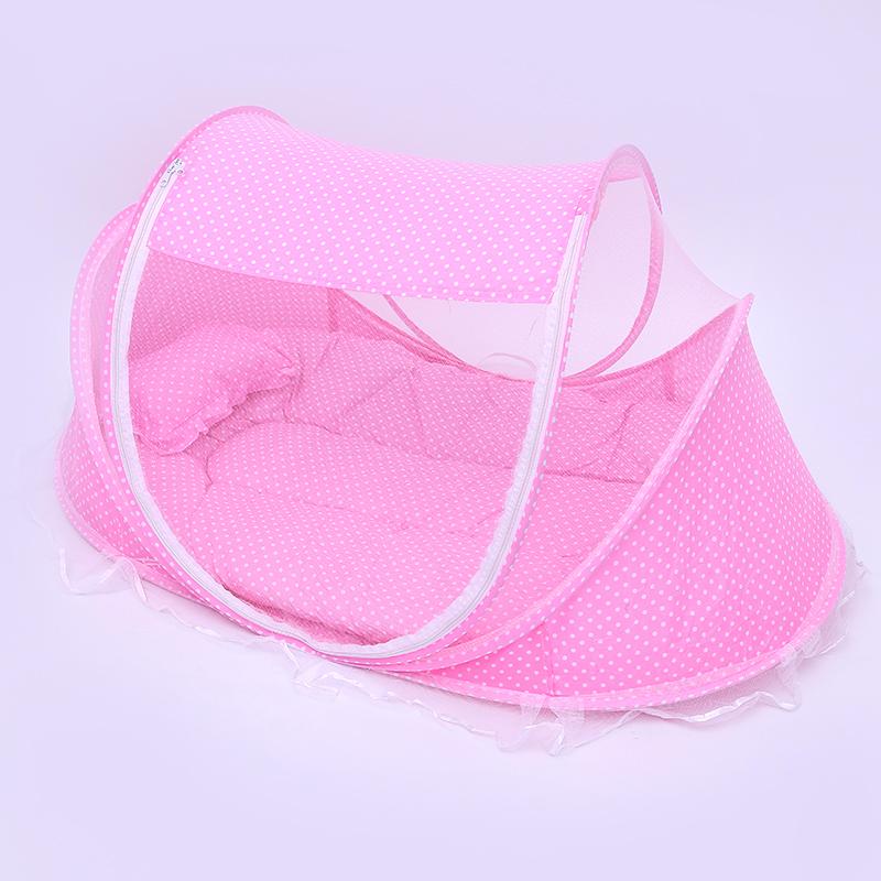 免安装宝宝婴儿蚊帐带抱被枕头纱帐密闭式可折叠蒙古包婴儿床