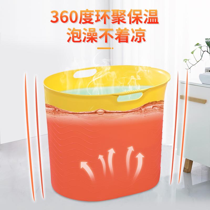 大号儿童可坐浴桶塑料洗澡桶泡澡桶软胶宝宝浴盆洗澡盆沐浴桶加高