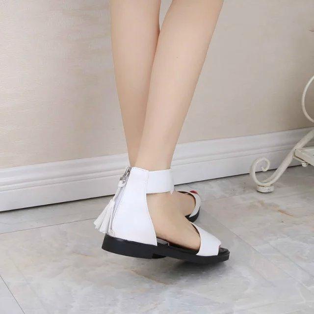夏季女童凉鞋2018新款6韩版11学生12公主13中大童平底15岁儿童鞋